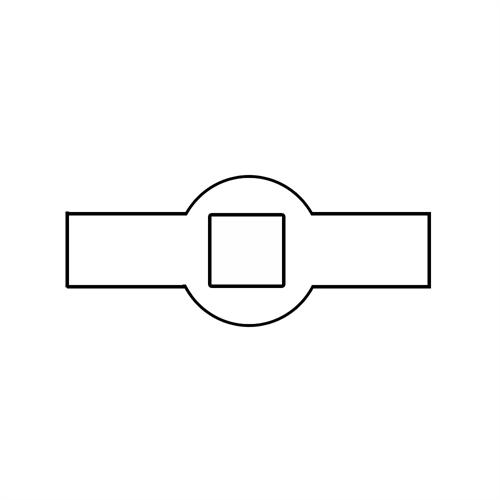 Lochleisten vierkant
