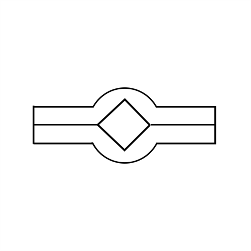 Lochleisten vierkant Var. 2
