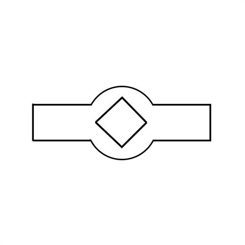 Lochleisten vierkant Var. 1