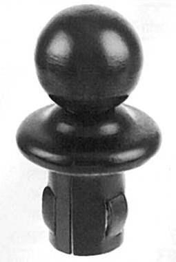 Kugelrohrknöpfe
