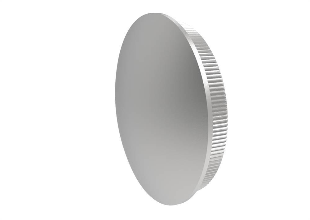 Stopfen   leicht gewölbt   Vollmaterial   für Rundrohr: Ø 42,4x2,0 mm   V2A