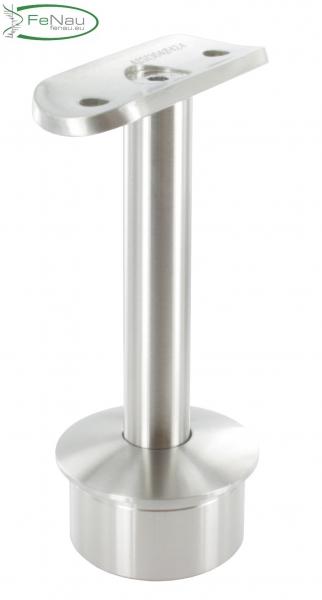 Stütze V2A mit Halteplatte für Rundrohr Ø 42,4 mm
