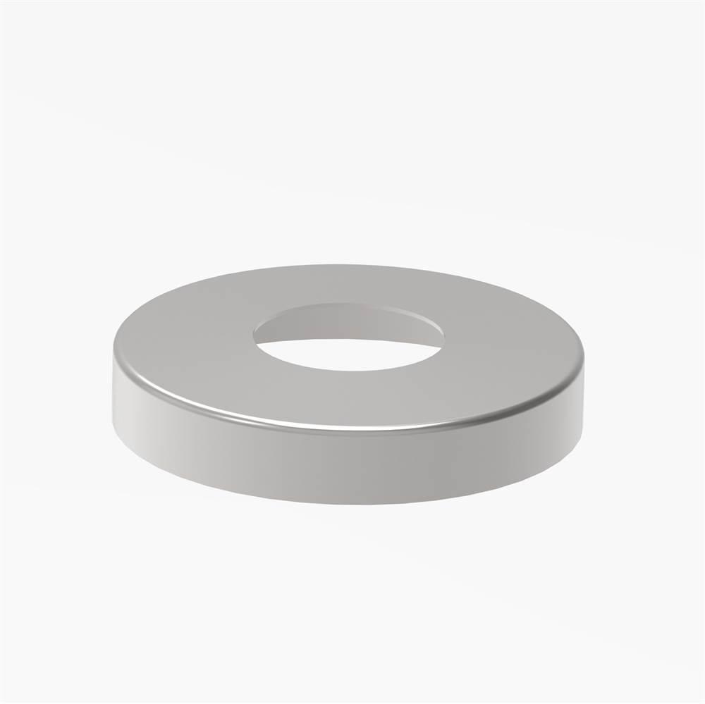Abdeckrosette | Maße: Ø 105x20 mm | für Rundrohr: Ø 42,4 mm | V4A