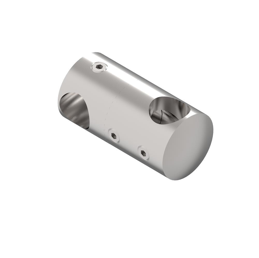 Doppelquerstabhalter mit Bohrungen 12,2 mm + 12,2 mm V2A