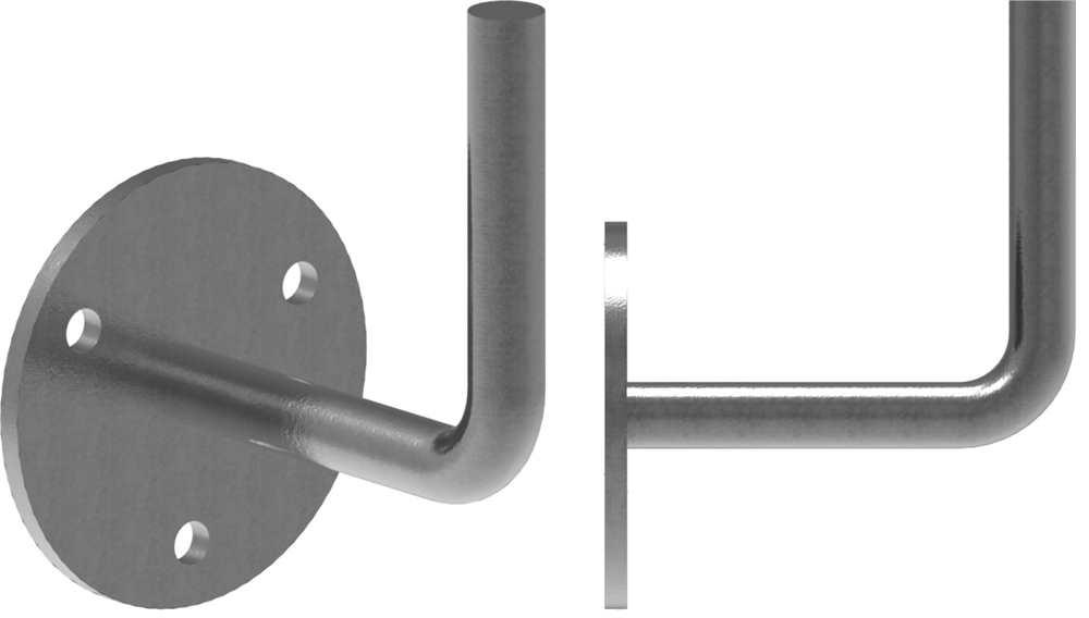 Fenau Stahl S235JR zum Anschwei/ßen Handlaufhalter Handlauftr/äger Schmiedeeisen f/ür Handlauf//Balkongel/änder oder Treppengel/änder 128x110 mm roh