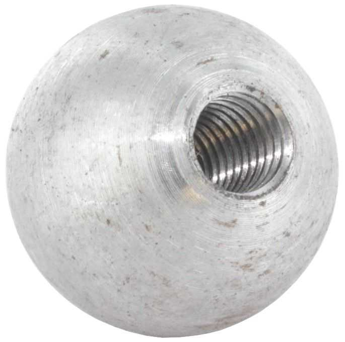 Edelstahl Kugel /ø 30mm mit Durchgangsbohrung /ø 12,2mm und seitlicher Madenschraube M6
