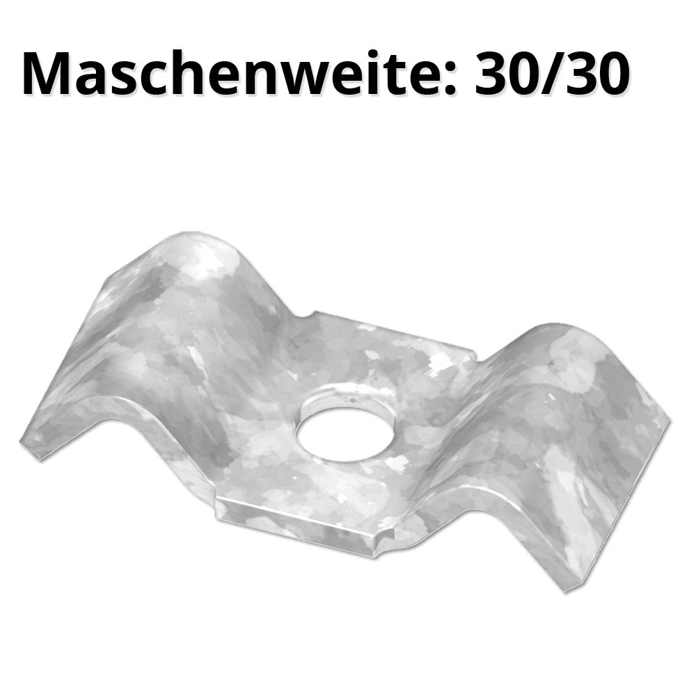 lose Schwalbenlasche für MW 30/30 mm   aus St37, feuerverzinkt