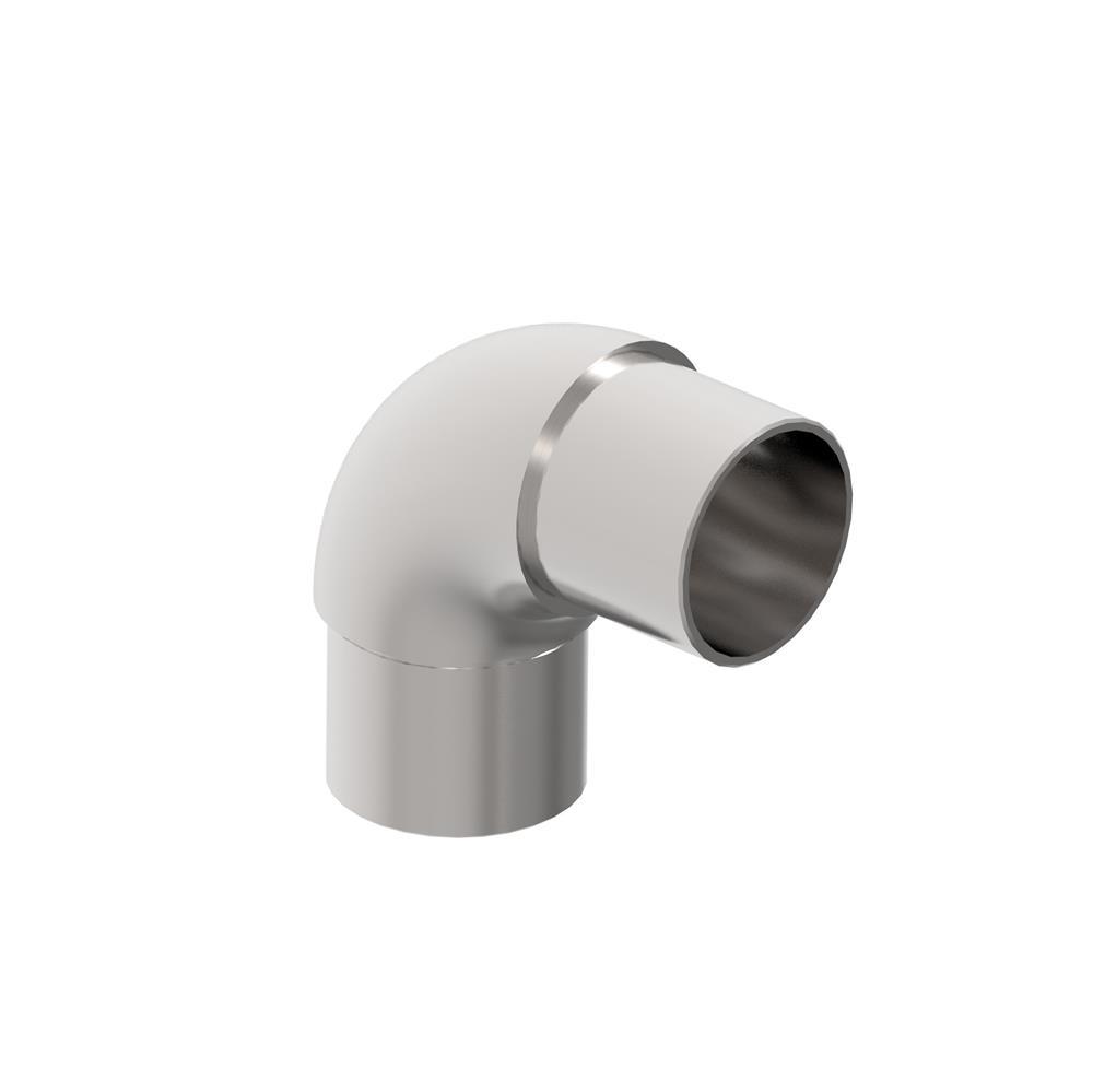 Rohrbogen 90° rund V2A für Rundrohr Ø 42,4x2,0 mm