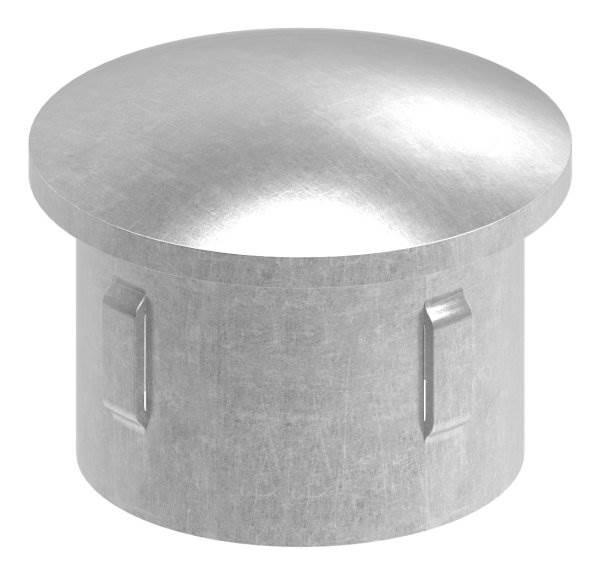 2 Stück Verschlußkappen gerade  Ø 83,0 mm hellgrau Pfostenkappen