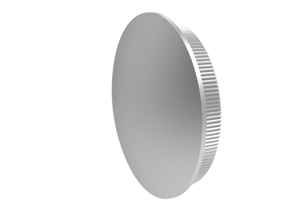 Stopfen leicht gewölbt Vollmaterial für Ø 42,4x2,0 mm V2A