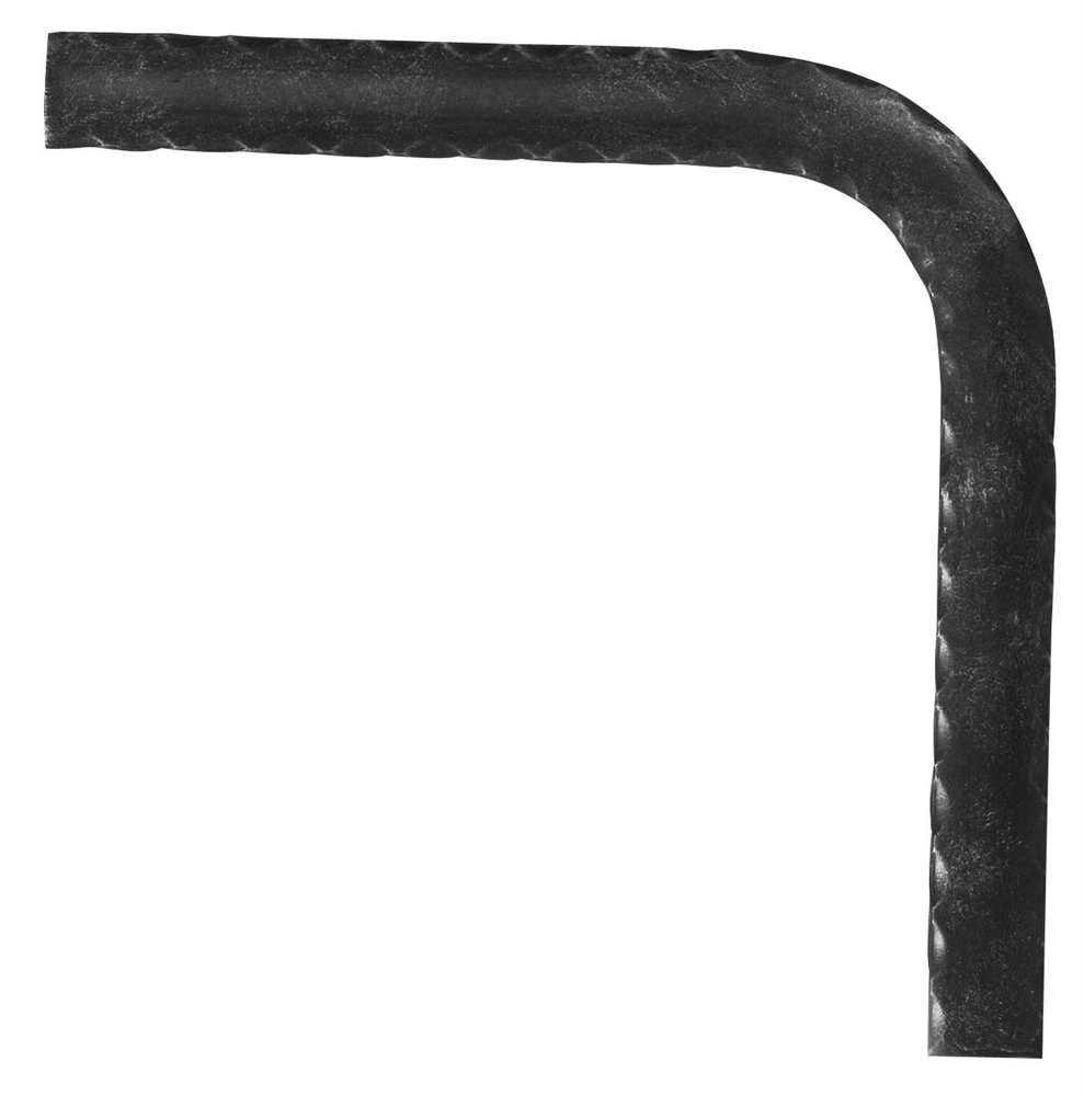 Handlauf-Bogen 90° | Material: 40x8 mm | gehämmert | Stahl (Roh) S235JR
