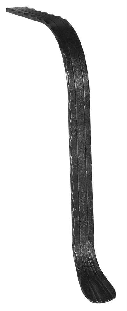 Handlauf-Endstück | Material: 50x10 mm | gehämmert | Stahl (Roh) S235JR