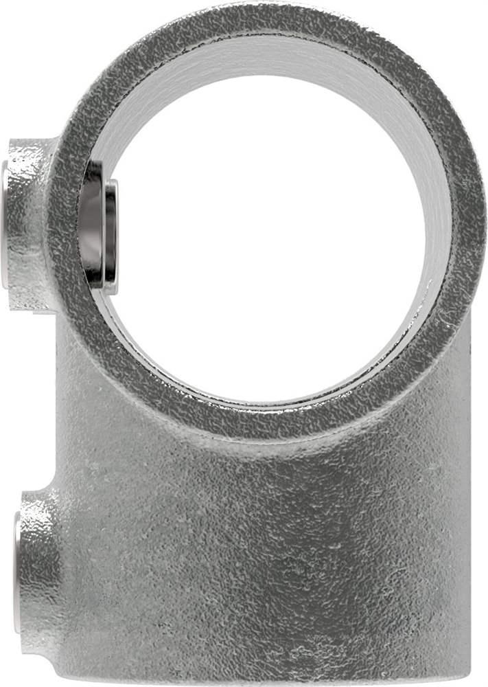 Rohrverbinder   T-Verbinder lang   104   26,9 mm - 60,3 mm   3/4 - 2   Temperguss u. Elektrogalvanisiert