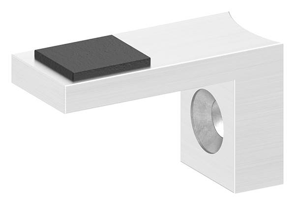 Plattenhalter   Halteplatte   Scheibensicherung für Glas Ø 42,4 mm V4A