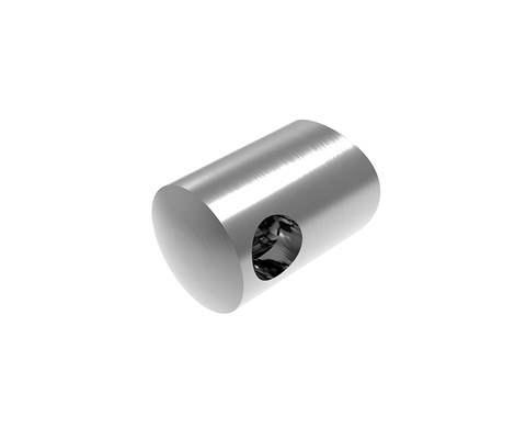 Querstabhalter Ø 22 mm   mit Bohrung: 10 mm   für Anschluss: Ø 33,7 mm   V2A