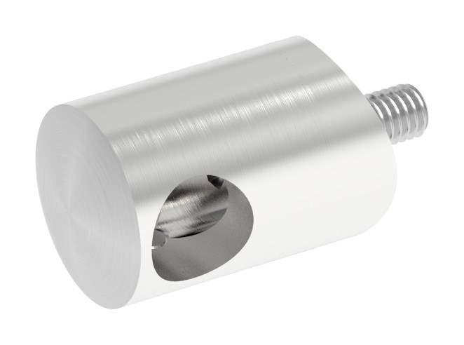Querstabhalter Ø 22 mm   mit Bohrung: 12,2 mm   für Anschluss: Ø 42,4 mm   V2A