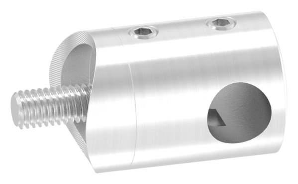 Querstabhalter mit Sackloch 10,2 mm (rechts)   für Ø 33,7mm