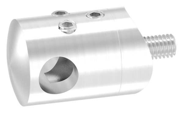 Querstabhalter zum Stoßen Ø 22 mm mit Bohrung 10,2 mm und Anschluss 33,7 mm