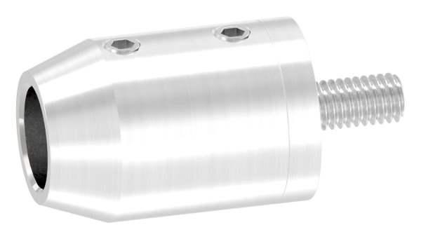 Querstabhalter zum Stoßen Ø 22 mm mit Sackloch 12,2 mm und flachen Anschluss