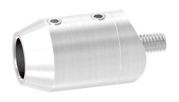Querstabhalter Stirnseiteige Montage   Sackloch 12,2mm   Für Ø 33,7mm