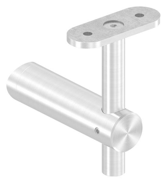 Handlaufhalter höhenverstellbar und Halteplatte für flachen Anschluss V2A