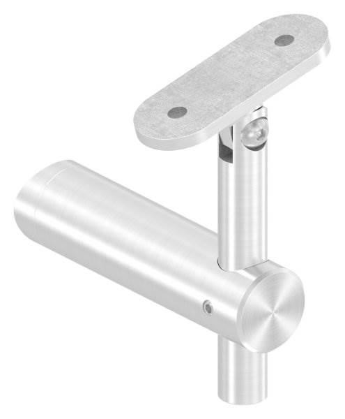 Handlaufhalter mit Gelenk und Halteplatte für Ø 42,4 mm V2A