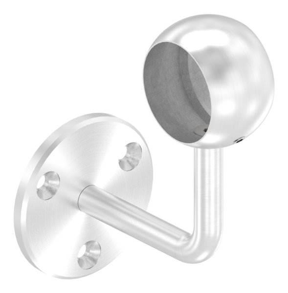 Handlaufhalter mit Kugelring für Rundrohr Ø 42,4 mm V2A