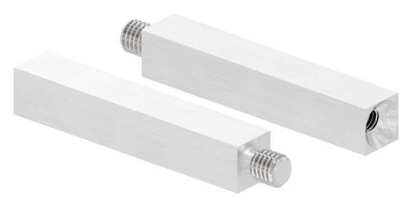 Vierkantstift | Maße: 68x12x12 mm | mit Außen - und Innengewinde | V2A
