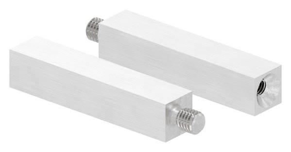 Vierkantstift | Maße: 68x14x14 mm | mit Außen - und Innengewinde | V2A