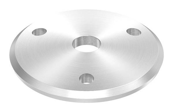Ankerplatte   Ø 68 x 5 mm   gewölbt   mit Zentrierbohrung: Ø 12,5 mm   V4A