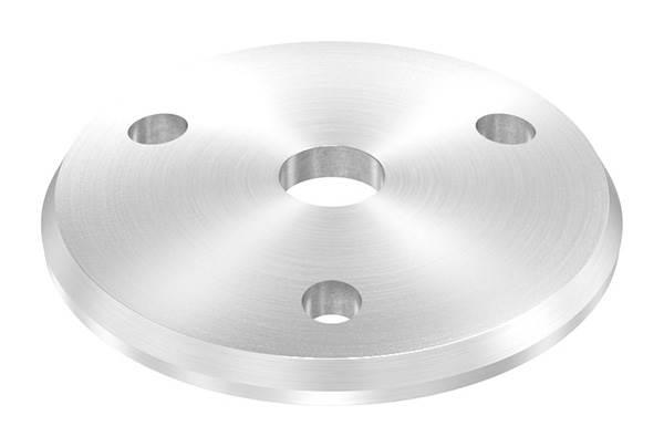 Ankerplatte   Ø 58 x 4 mm   gewölbt   mit Zentrierbohrung: Ø 10,5 mm   V2A