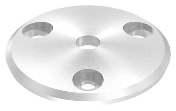 Ankerplatte   Ø 68 x 5 mm   gewölbt   mit Zentrierbohrung: Ø 10 mm   V2A