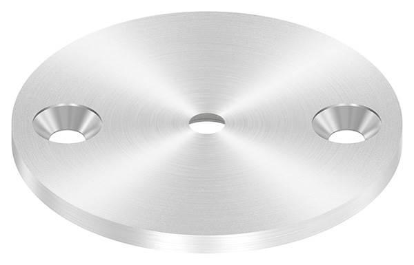 Ankerplatte   Ø 70 x 4 mm   mit Zentrierbohrung: Ø 6,5 mm, gesenkt   V2A