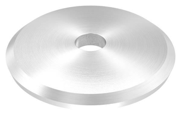 Ankerplatte   Ø 58 x 5 mm   gewölbt   mit Zentrierbohrung: Ø 10 mm   V2A