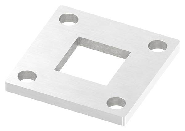 Ankerplatte   Maße: 92 x 92 x 8 mm   mit Zentrierbohrung: 40,2 x 40,2 mm   V2A