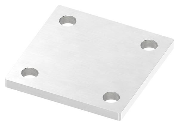 Ankerplatte   Maße: 100 x 100 x 8 mm   mit 4 Bohrungen á Ø 13 mm   V2A