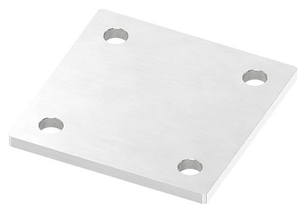 Ankerplatte   Maße: 100 x 100 x 6 mm   mit 4 Bohrungen á Ø 11 mm   V2A