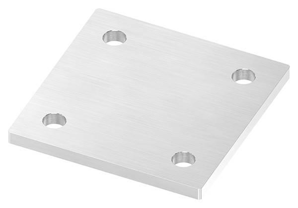 Ankerplatte   Maße: 120 x 120 x 8 mm   mit 4 Bohrungen á Ø 13 mm   V2A