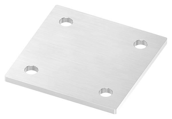 Ankerplatte   Maße: 120 x 120 x 6 mm   mit 4 Bohrungen á Ø 13 mm   V2A