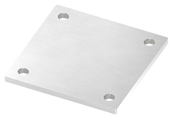 Ankerplatte   Maße: 150 x 150 x 8 mm   mit 4 Bohrungen á Ø 14 mm   V2A