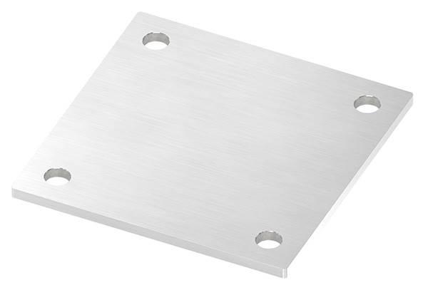 Ankerplatte   Maße: 150 x 150 x 6 mm   mit 4 Bohrungen á Ø 14 mm   V2A