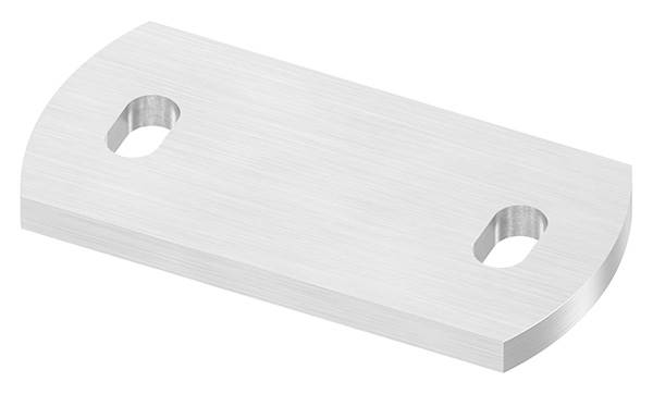 Ankerplatte   Maße: 120 x 60 x 8 mm   mit Langlochbohrung   V2A
