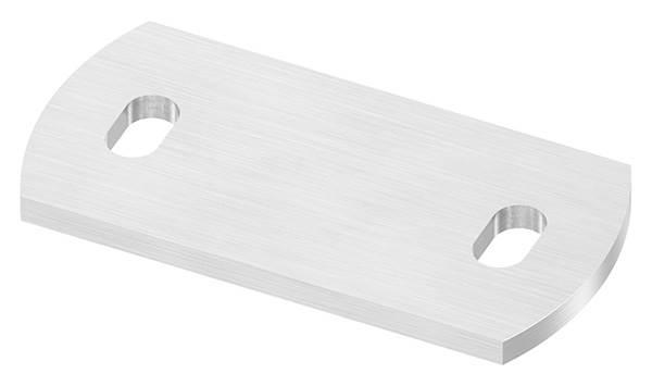 Ankerplatte   Maße: 120 x 60 x 6 mm   mit Langlochbohrung   V2A