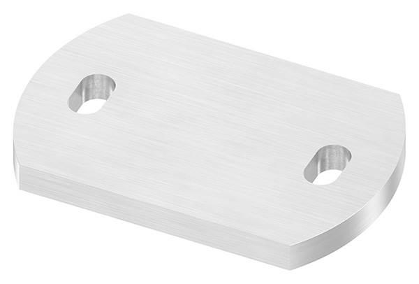 Ankerplatte   Maße: 120 x 80 x 10 mm   mit Langlochbohrung   V2A