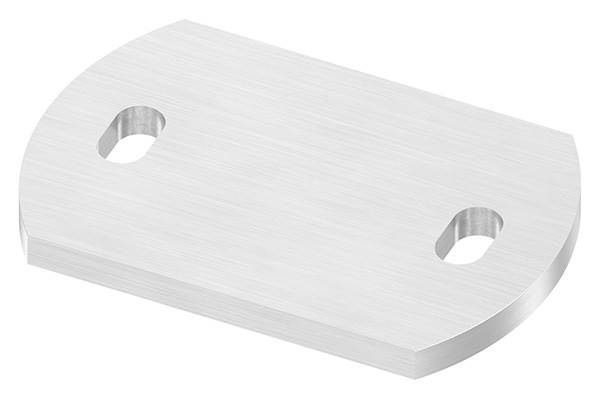 Ankerplatte   Maße: 120 x 80 x 8 mm   mit Langlochbohrung   V2A