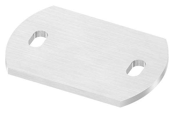 Ankerplatte   Maße: 120 x 80 x 6 mm   mit Langlochbohrung   V2A