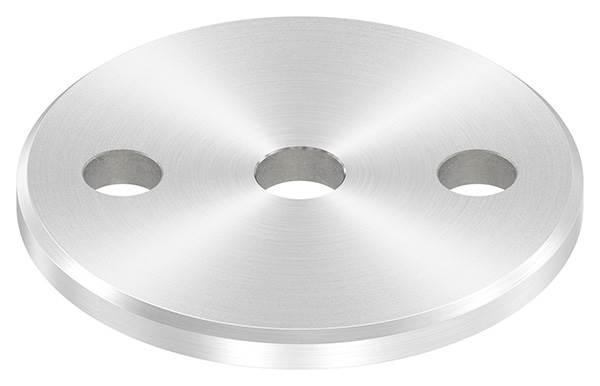 Ankerplatte   Ø 80 x 6 mm   mit Zentrierbohrung: Ø 12,5 mm   V2A