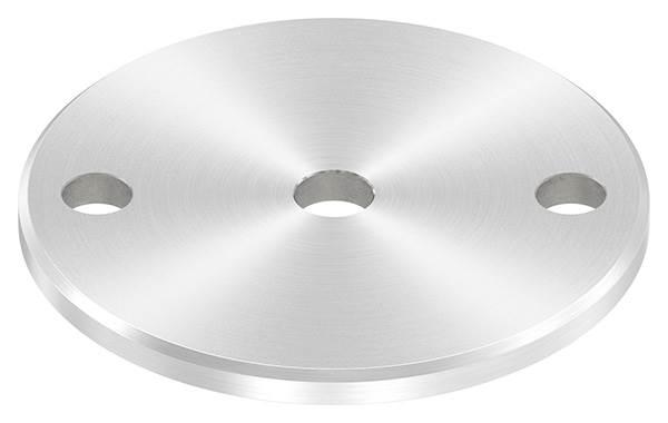 Ankerplatte   Ø 100 x 6 mm   mit Zentrierbohrung: Ø 12,5 mm   V2A