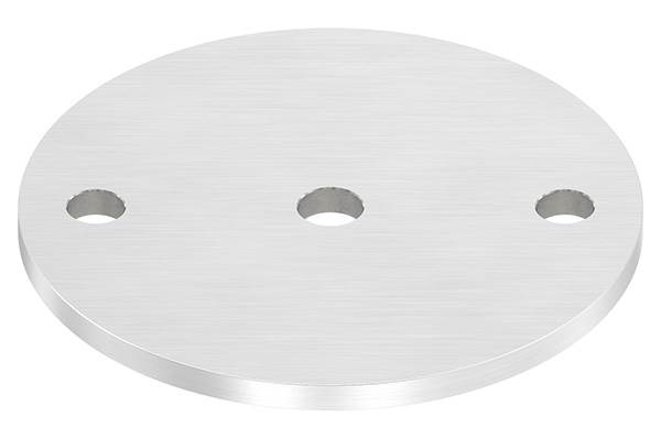 Ankerplatte   Ø 120 x 6 mm   mit Zentrierbohrung: Ø 12,5 mm   V2A