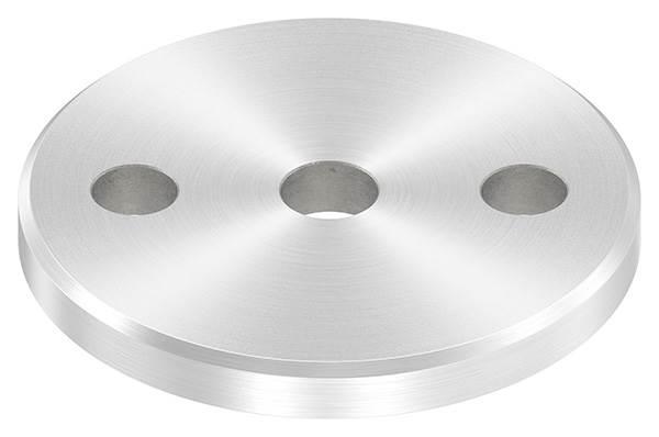 Ankerplatte   Ø 80 x 8 mm   mit Zentrierbohrung: Ø 12,5 mm   V2A